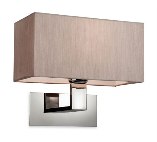 Firstlight 8370OY Polished S/Steel with Oyter Shade Prince Single Wall